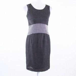 Carlisle black white sleeveless sheath dress 0